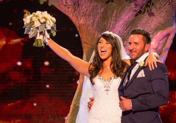 Panda ties the knot with BBC One Saturday night Wedding Day Winners (w/t)